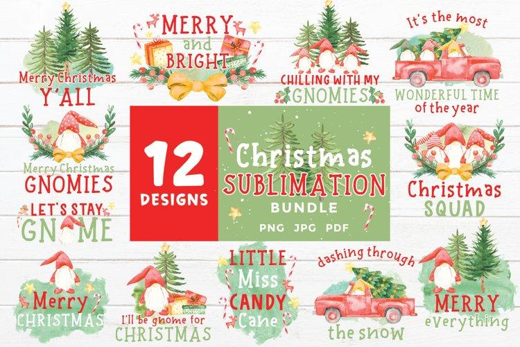 Christmas Sublimation Bundle| Christmas Gnomes Design
