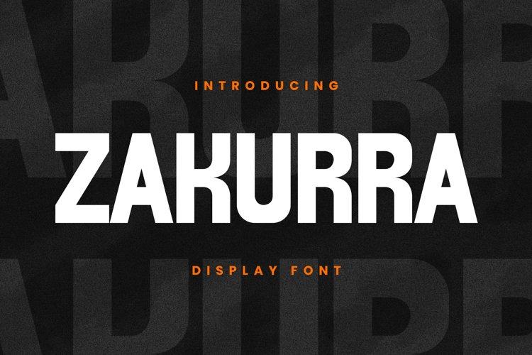 ZAKURRA Font example image 1