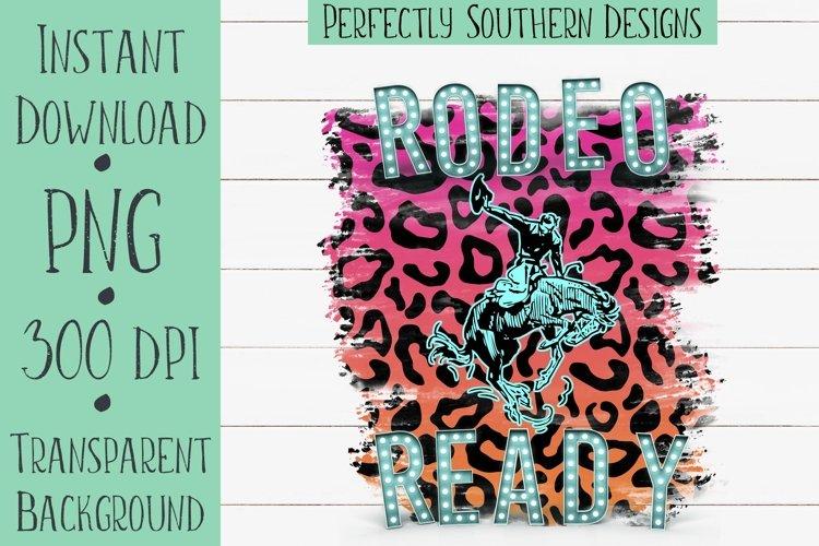 Rodeo Ready Black Leopard - Sublimation Design