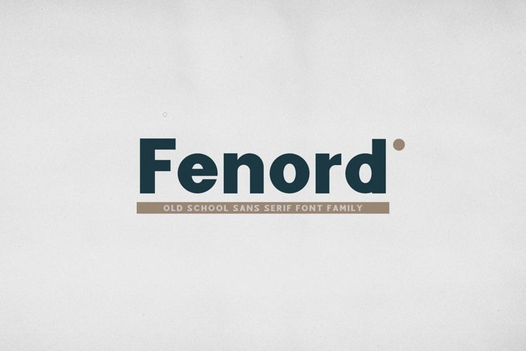 Fenord - Old School Sans Serif example image 1