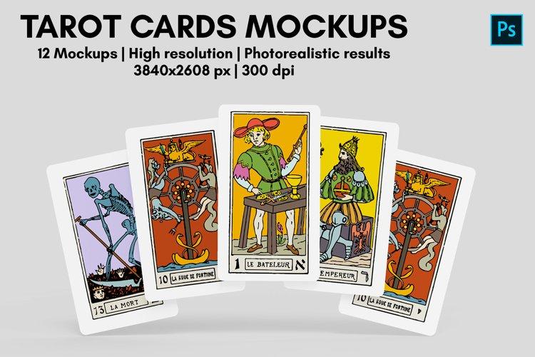 Tarot Cards Mockups - 12 Views example image 1
