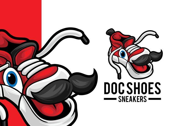 Sneaker Shop Mascot Logo Template example image 1