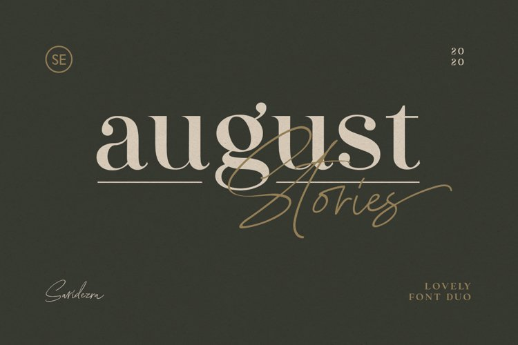 August Stories - LOVELY FONT DUO example image 1