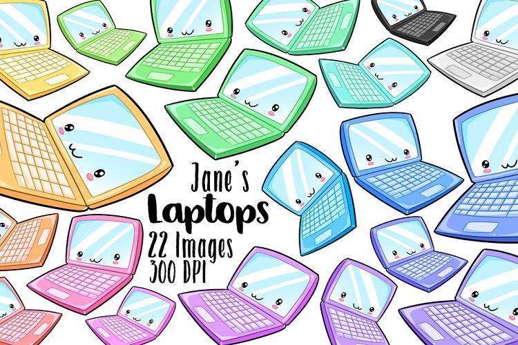 Kawaii Laptop Clipart