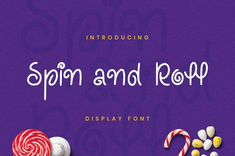 Spin And Roll Font example image 1