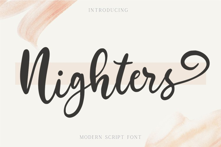 Nighters - Bold Modern Script Fonts