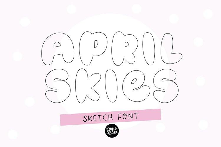 APRIL SKIES Sketch Font - Single Line/Hairline Font