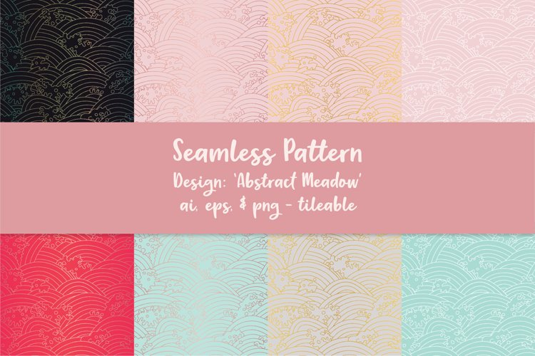 Abstract Meadow Seamless Pattern example image 1