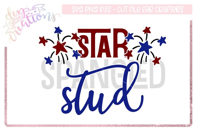 Star Spangled Stud - 4th of July Design example image 1