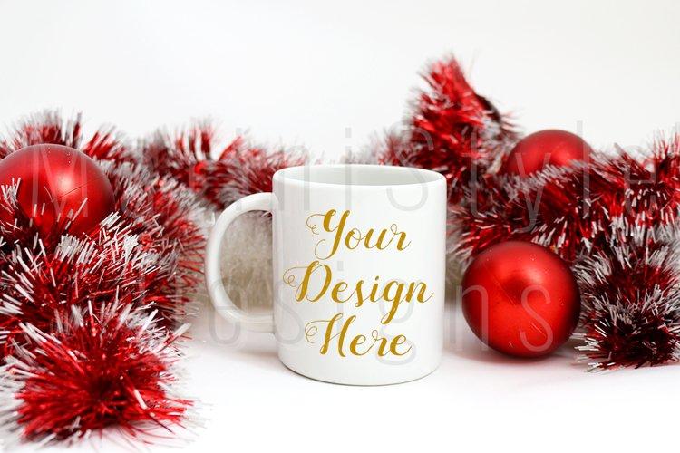 Christmas Mug mockup, Winter Coffee Mug Stock Photo 218
