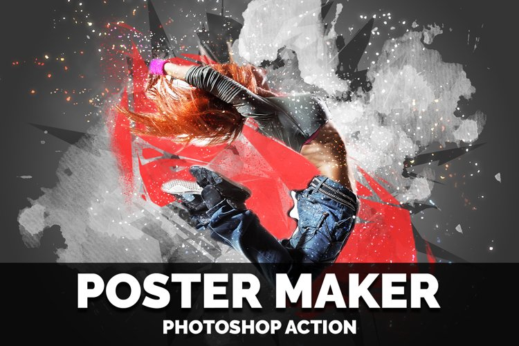 Poster Maker photoshop action example image 1