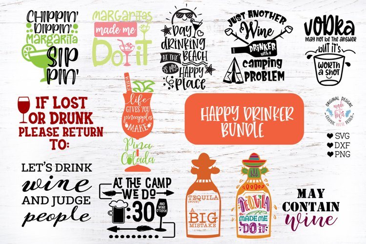 Funny Drinking Party Cut Files and Sublimation Bundle