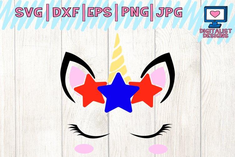 unicorn svg, unicorn face svg, 4th of july svg, unicorn silhouette, 4th of july shirt, patriotic svg, fourth of july cricut, america svg example image 1
