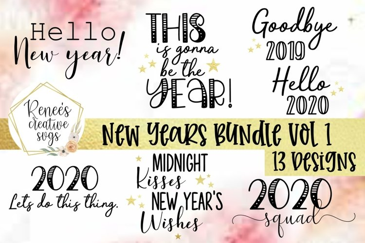 New Years Bundle Vol 1|New Years|SVG Cut File example image 1