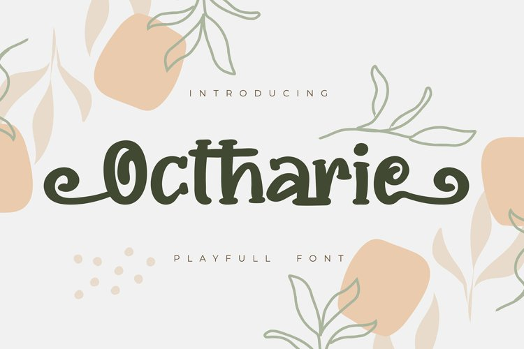 Ochtarie | Playfull Font example image 1