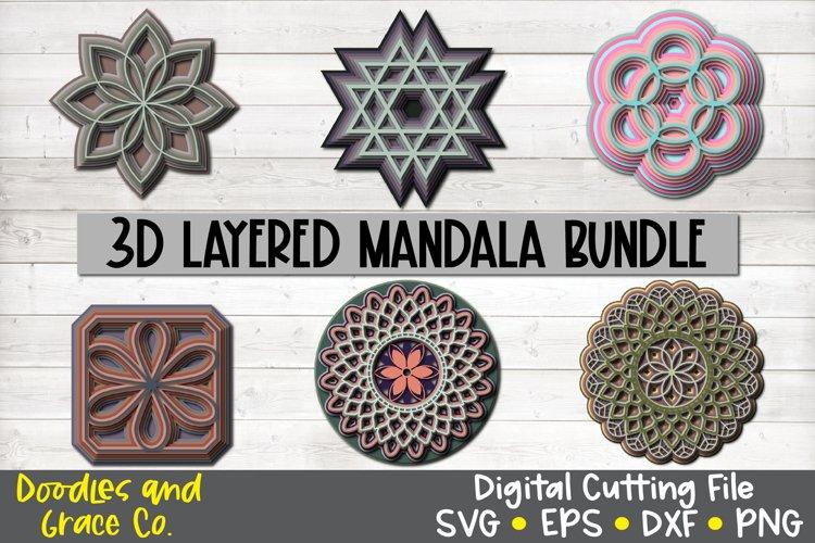 Download 3d Layered Mandala Bundle Svg Png Eps Dxf 512279 Cut Files Design Bundles