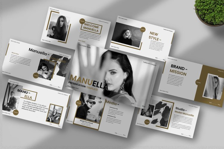 Manuella Creative Powerpoint Template example image 1