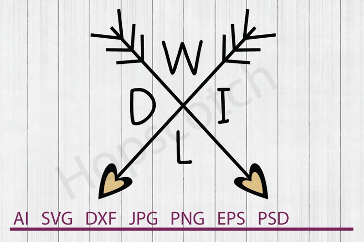 Arrows SVG, Wild SVG, DXF File, Cuttable File example image 1