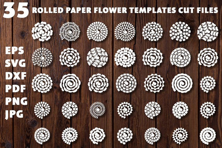 Rolled Paper Flowers SVG. Rolled Flower SVG. Papercut Flower