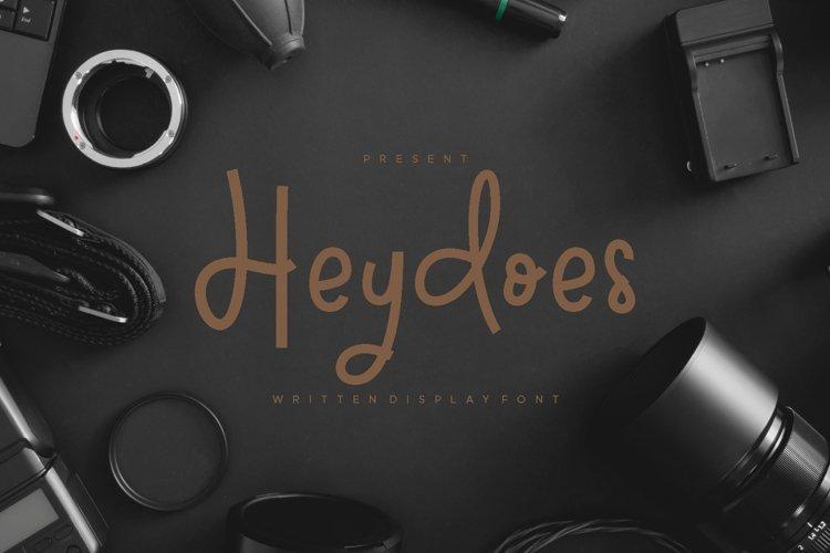 Heydoes - Handwritten Display Font example image 1