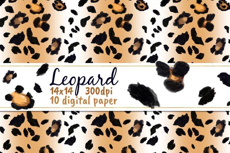 Leopard Spots Digital Paper Cheetah Watercolor Clipart Skin