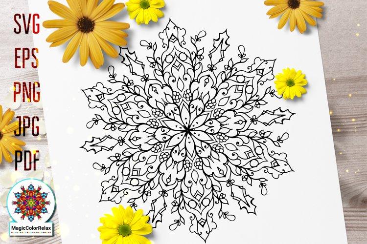Mandala svg files for Coloring, mandala of Inherent Worth