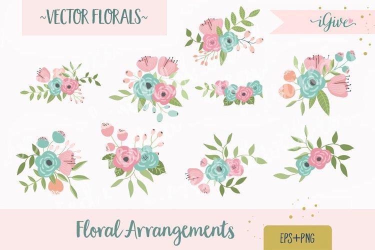 Wedding Florals - Mint, Pink and Blush - Vector Florals