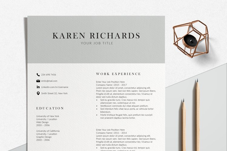 Modern Resume Format   InDesign Resume Template