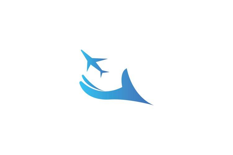plane travel logo vector illustration example image 1