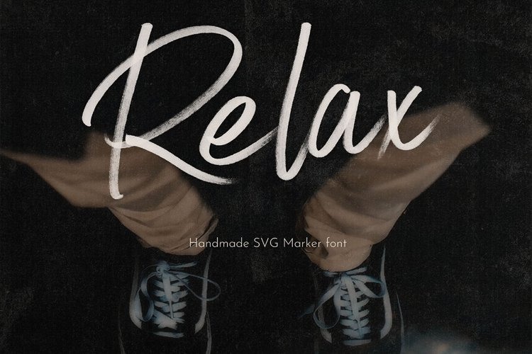Relax SVG Marker Script Font example image 1
