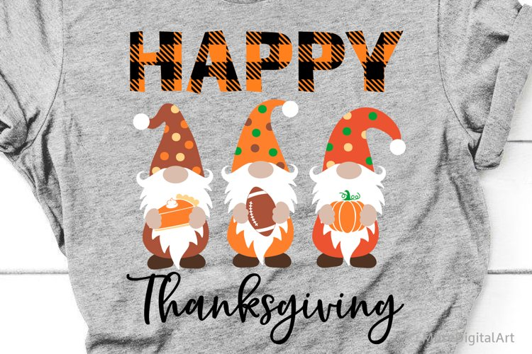 Happy Thanksgiving Svg, Thankful Gnomes Svg, Kids Shirt Svg