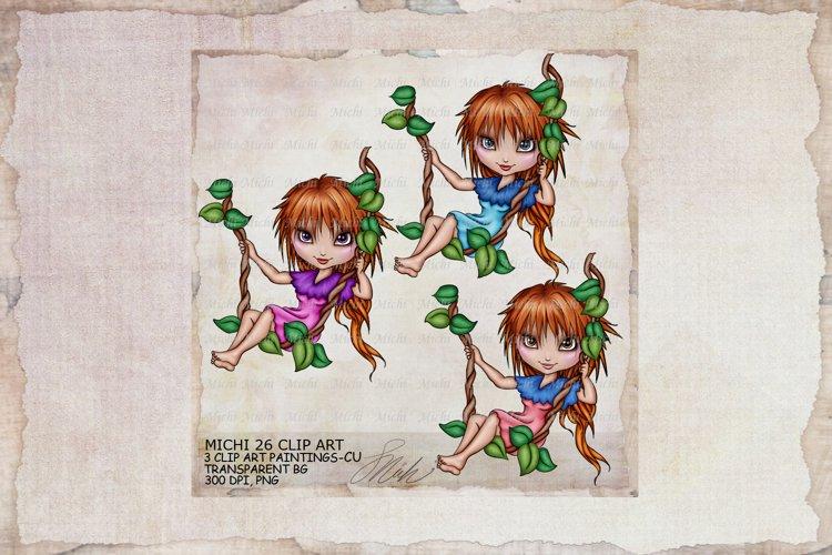 Michi 26 Cute School Swing Clip Art, Sublimation example image 1