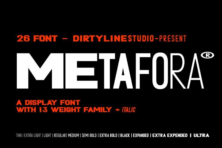 Metafora Sans - Variable Font Family example image 1