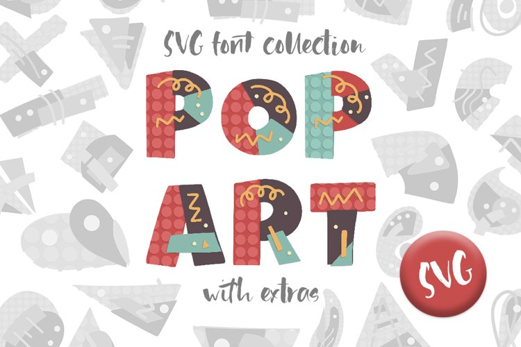POP ART. SVG font collection. example image 1