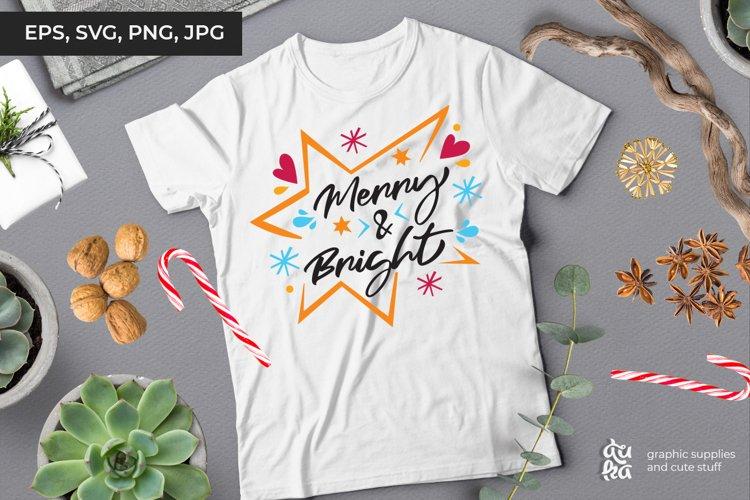 Merry & Bright | Christmas SVG