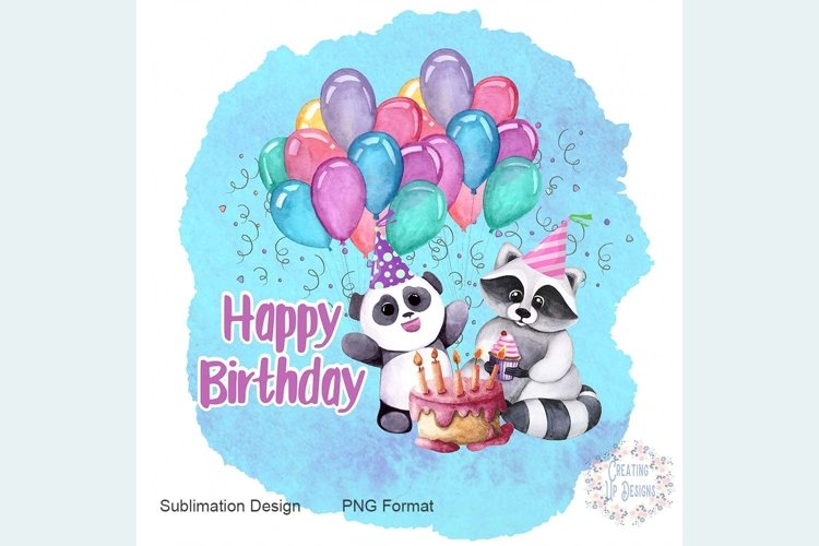 Happy Birthday Panda Digital Download example image 1