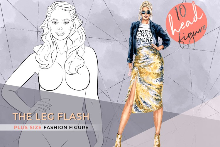 The Leg Flash| Plus size Fashion Figure 10 heads