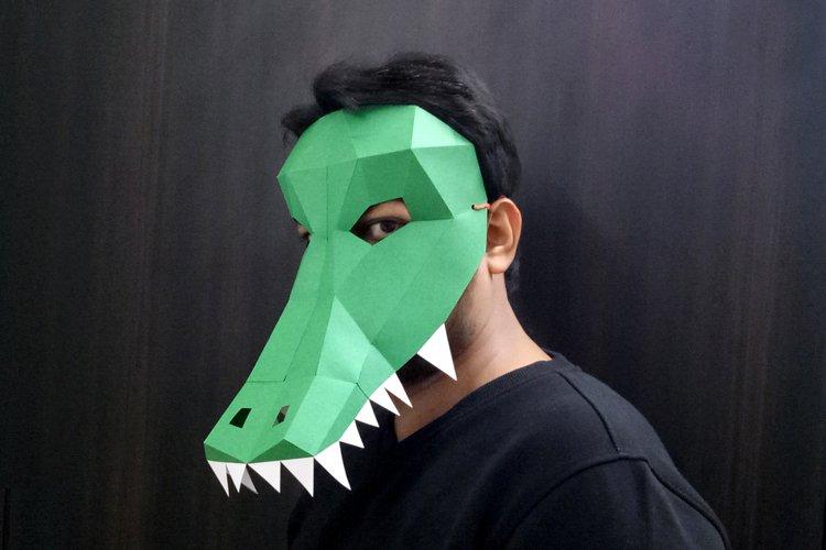 DIY Crocodile/Alligator Mask - 3d papercraft example image 1