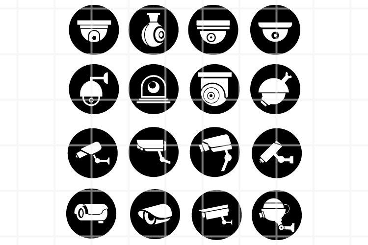 CCTV camera icons vector files. Security Camera vector icon