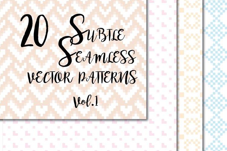 Subtle seamless vector patterns