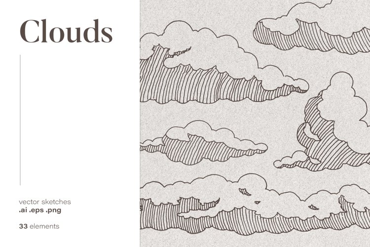 Collection of clouds drawings