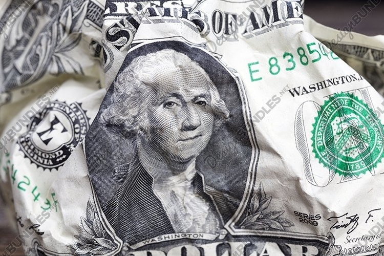 one crumpled American dollars example image 1