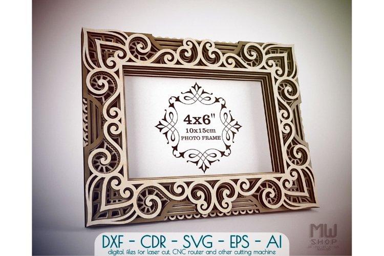 Download F11 Multilayer Photo Frame Laser Cut Photo Frame Dxf 580005 Laser Engraving Design Bundles
