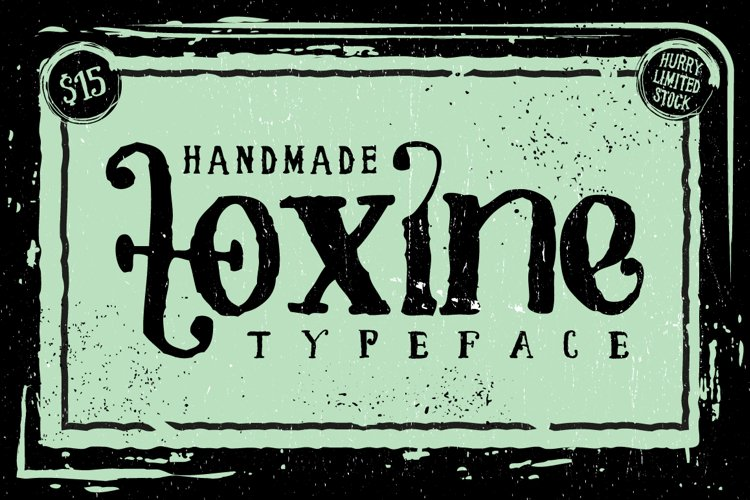 TOXINE typeface + Ornament pack example image 1