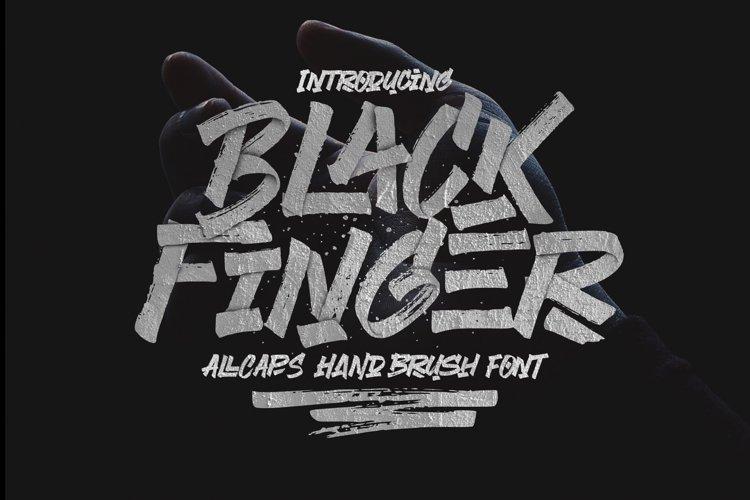 Black Finger Brush Font example image 1