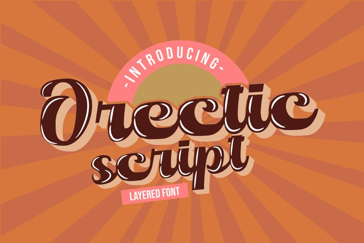 Orectic Script - Layered example image 1