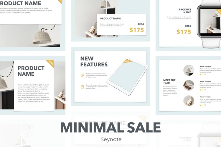 Minimal Sale Keynote Template example image 1