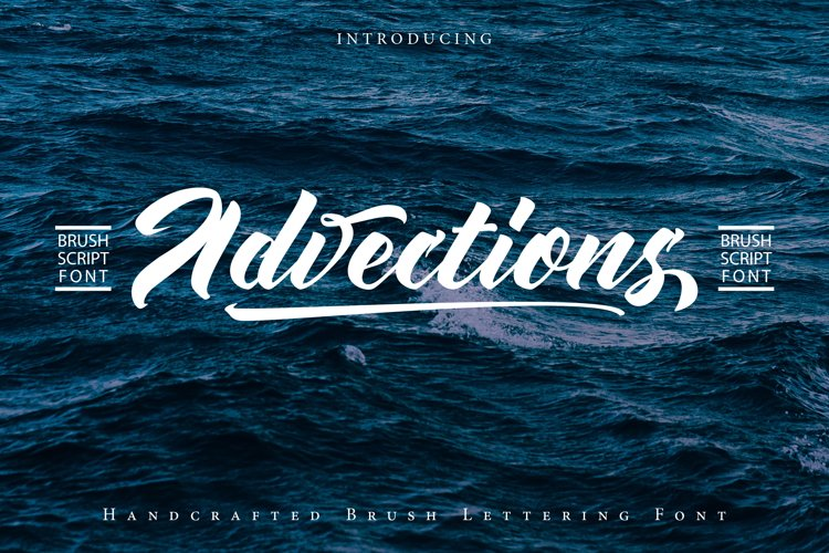 Advectionz | Brush Script Font example image 1