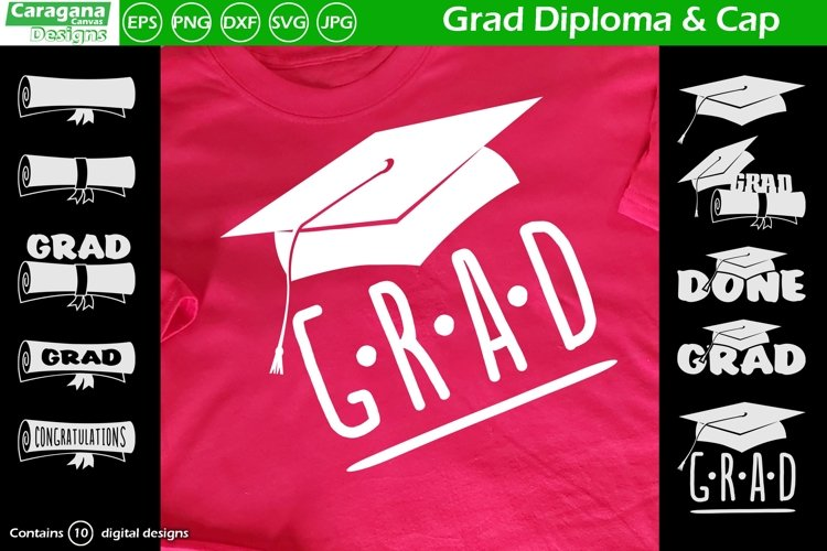 Grad Diploma & Cap example image 1