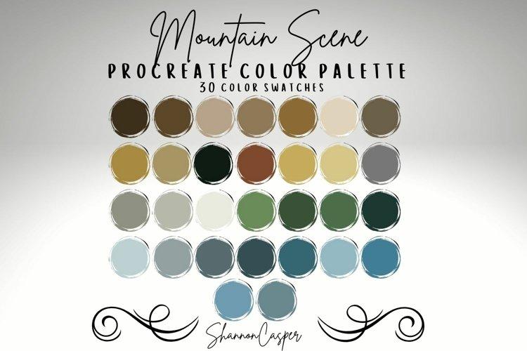 Outdoor Mountain Scenic Procreate Color Palette